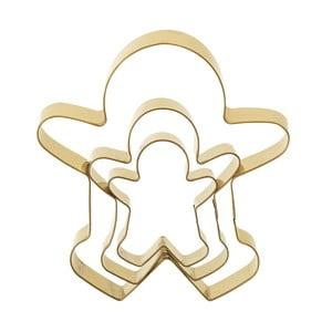 Zestaw 3 foremek do pierników w złotej barwie Bloomingville Cookie Cutter