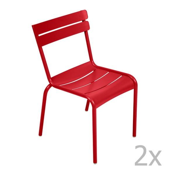 Zestaw 2 makowych krzeseł Fermob Luxembourg