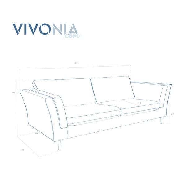 Antracytowa sofa trzyosobowa Vivonita Connor