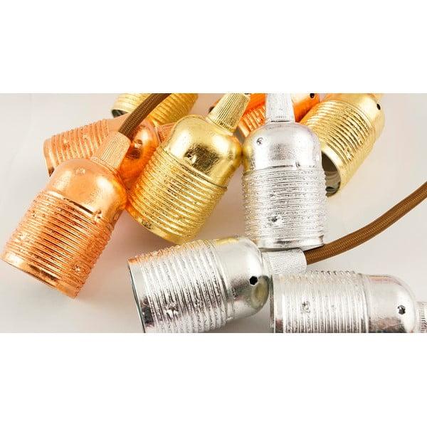 Trzy wiszące kable Uno, złoty/brązowy/biały