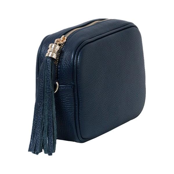 Ciemnoniebieska torebka skórzana Andrea Cardone Pezzo