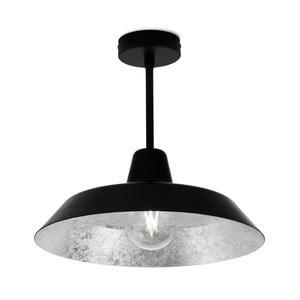 Czarno-srebrna lampa wisząca Bulb Attack Cinco