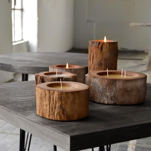 Palmowa świeczka Legno o zapachu wanilii i paczuli, 70 godzin palenia