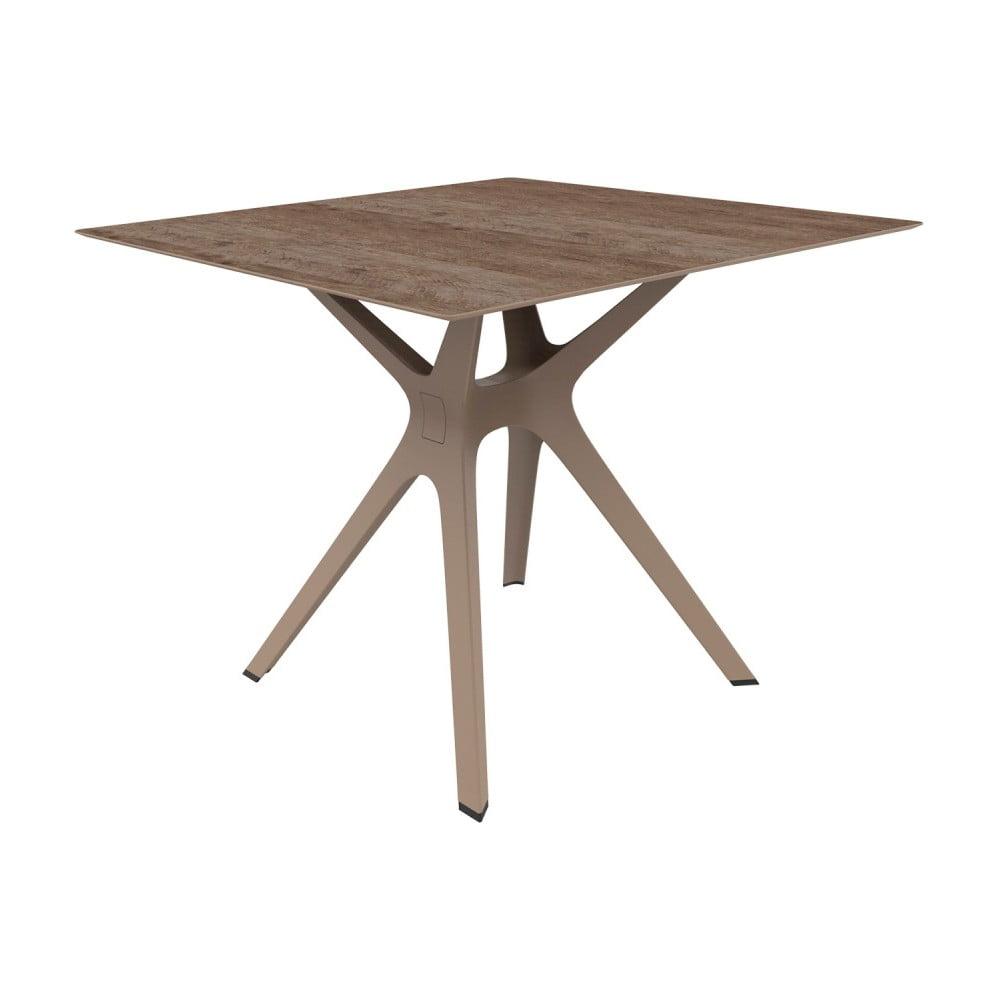 Brązowy stół odpowiedni na zewnątrz Resol Vela, 90x90 cm