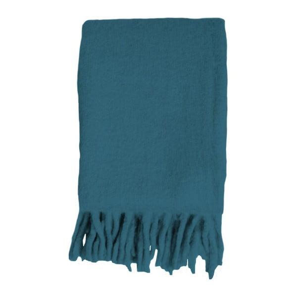 Niebieski pled Essenza Kyan Petrol, 125x180 cm