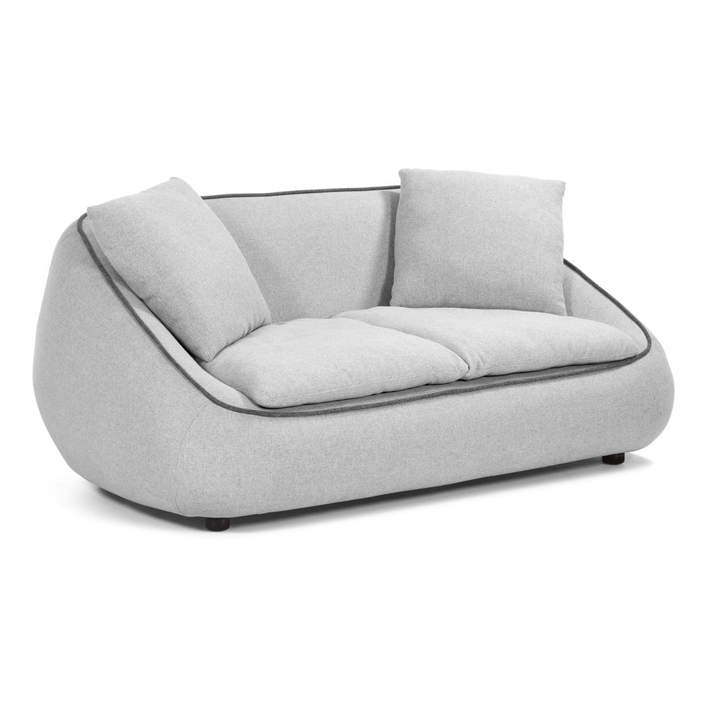 Jasnoszara 2-osobowa sofa La Forma Safira