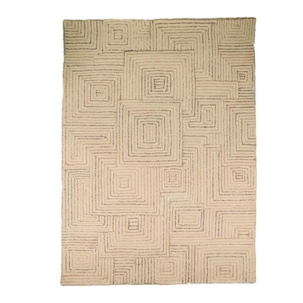Dywan wełniany Maze, 80x150 cm, beżowy