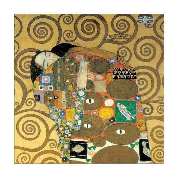 """Gustav Klimt """"Spełnienie"""" - fragment"""