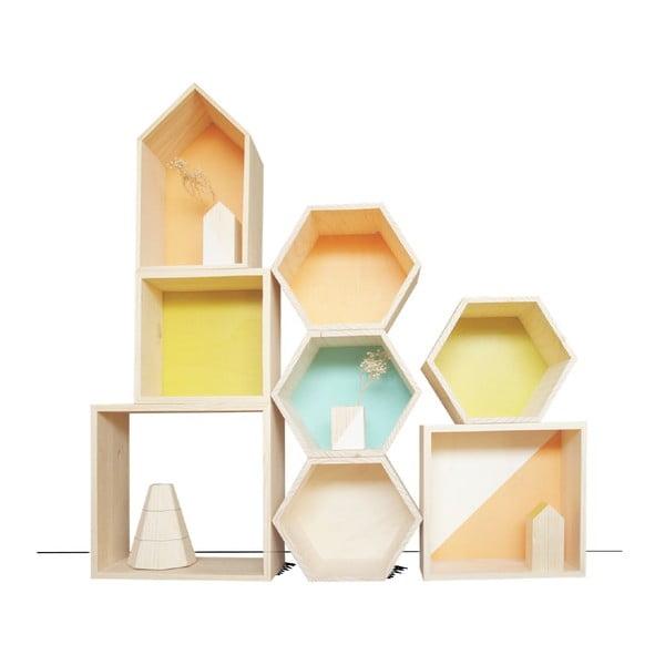 Dekoracja Cubo Nordic Aqua S