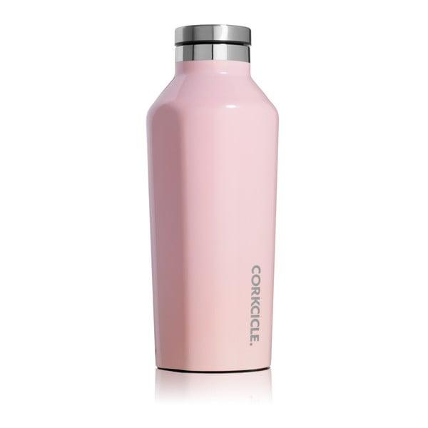 Jasnoróżowa butelka termiczna ze stali nierdzewnej Corkcicle Canteen, 260 ml