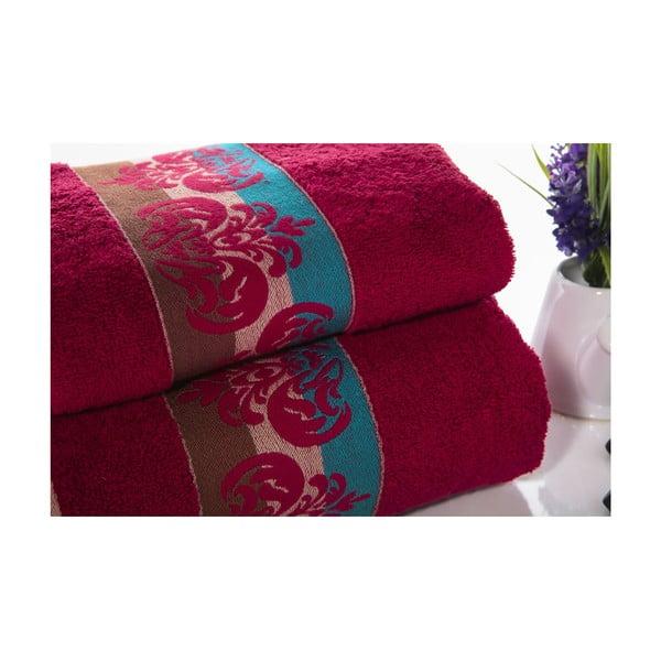 Zestaw 2 ręczników Noble V4, 50x90 cm + 70x140 cm