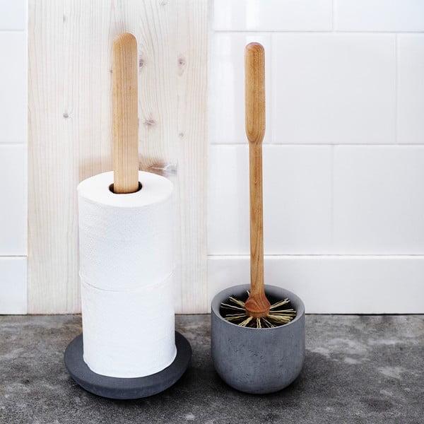 Szczotka toaletowa z pojemnikiem z szarego betonu Iris Hantverk
