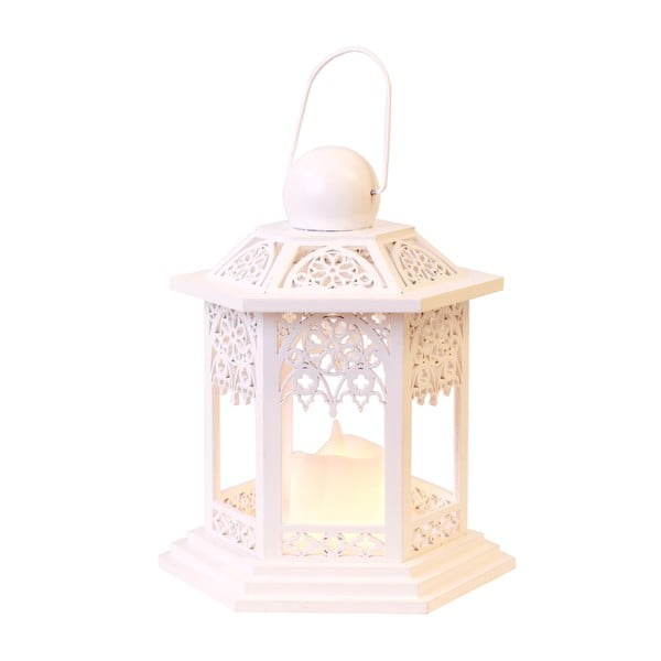 LED lampion  Christmas 20 cm, kremowy