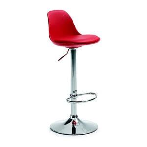Krzesło barowe Orlando, czerwone