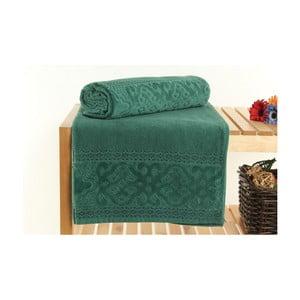 Zestaw 2 zielonych ręczników kąpielowych Meltem, 70x140cm