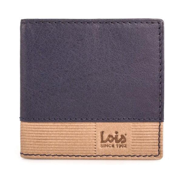 Skórzany portfel Lois Blue, 9,5x9,5 cm