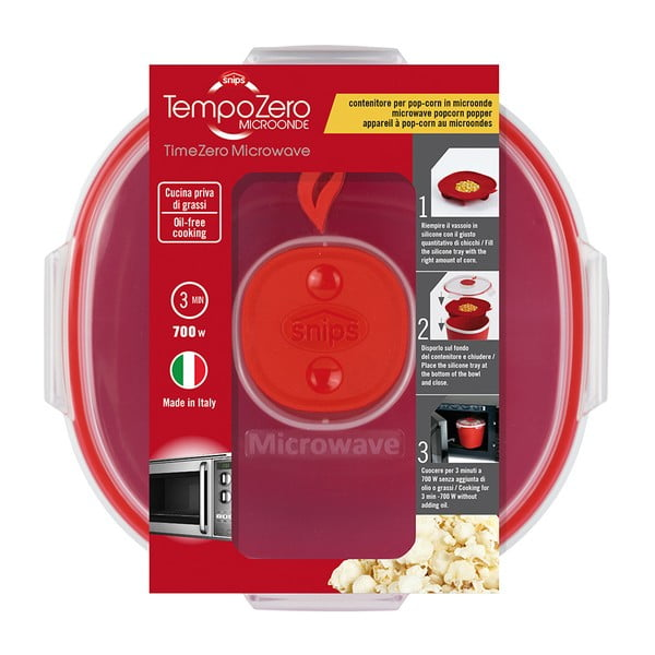 Zestaw do przyrządzania popcornu w mikrofalówce Snips Popper, 1,5l