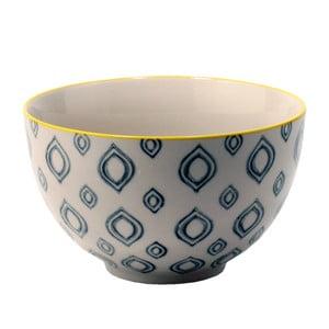 Ceramiczna miska Stan, krawędź żółta
