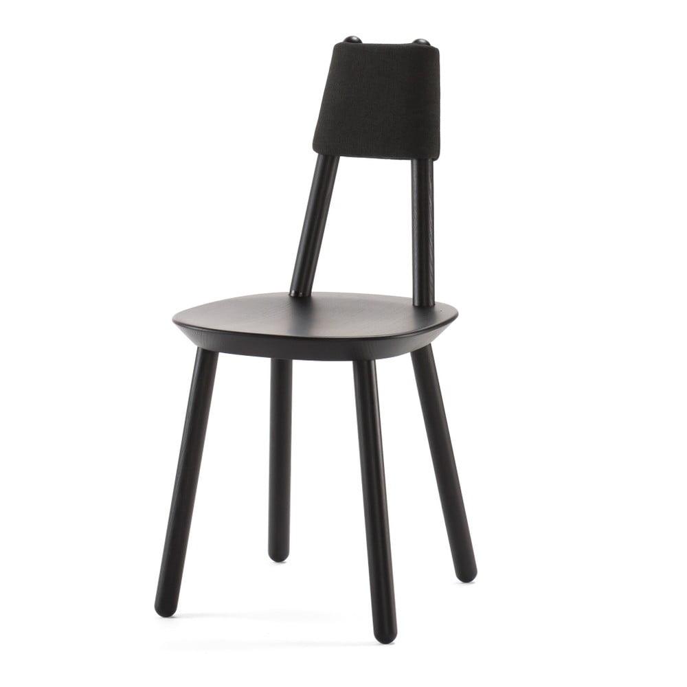 Czarne krzesło z litego drewna EMKO Naïve