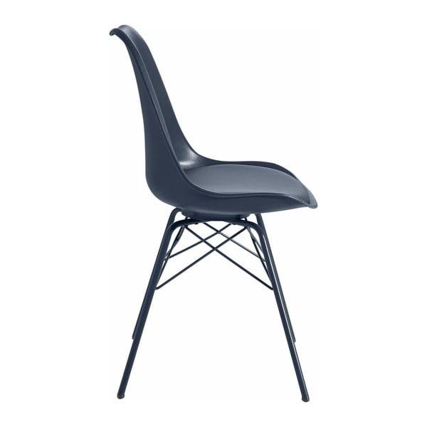 Zestaw 2 niebieskich krzeseł Støraa Landon
