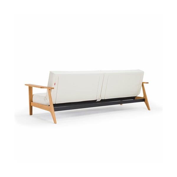 Biała sofa rozkładana z podłokietnikami Splitback Frej