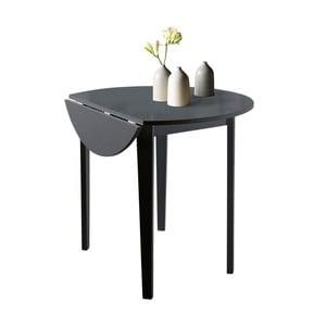 Czarmy stół z częściowo rozkładanym blatem Støraa Trento Quer, ⌀92cm
