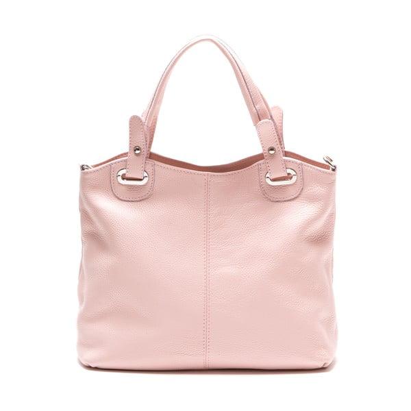 Skórzana torebka Luisa Vanini 1103, różowa