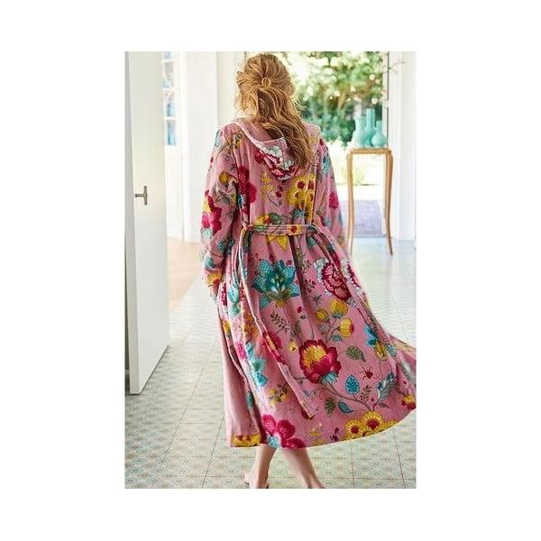Różowy szlafrok damski Pip Studio Floral Fantasy, rozm. S