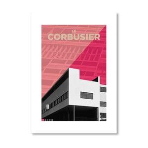 "Plakat autorski ""Corbusier Pink"""
