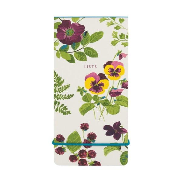 Bloczek   w linie z elastyczną gumką Laura Ashley Parma Violets by Portico Designs,   80str.