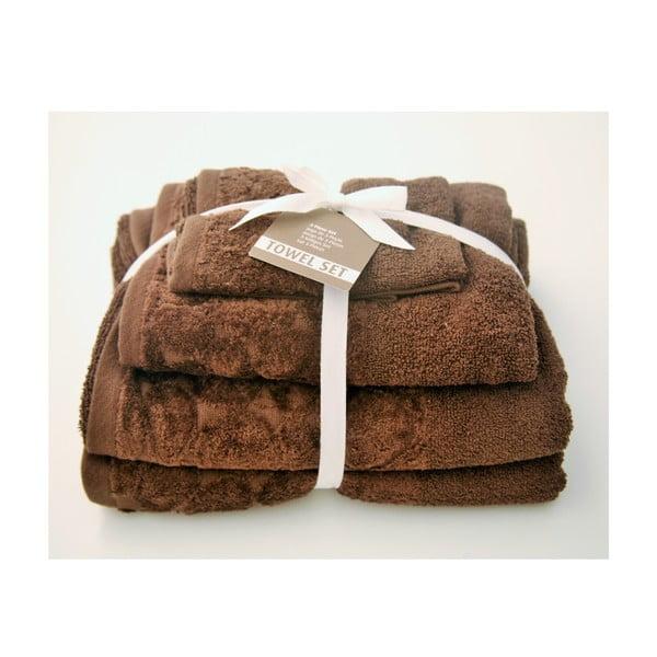 Zestaw 3 ręczników Seixos Chocolate
