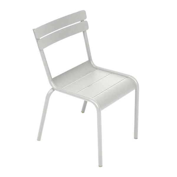 Jasnoszare krzesło dziecięce Fermob Luxembourg