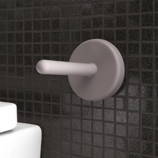 Samoprzylepny uchwyt na papier toaletowy Portaro, jasnoszary