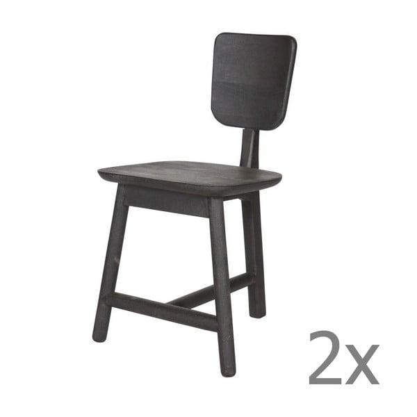 Zestaw 2 krzeseł Roost Black