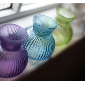 Szklany wazon Inka, turkusowy