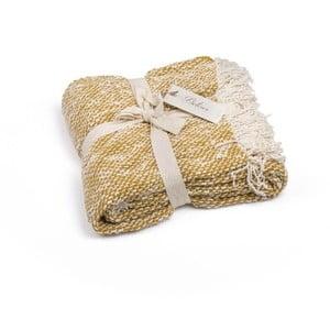 Żółta narzuta bawełniana Homemania