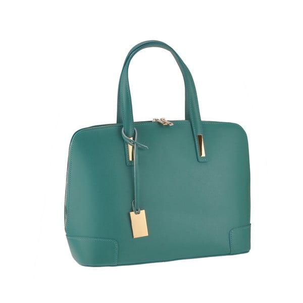 Skórzana torebka Rena, zeleno-niebieska
