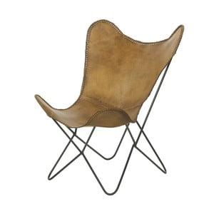 Fotel skórzany Parlane Texas, brązowy