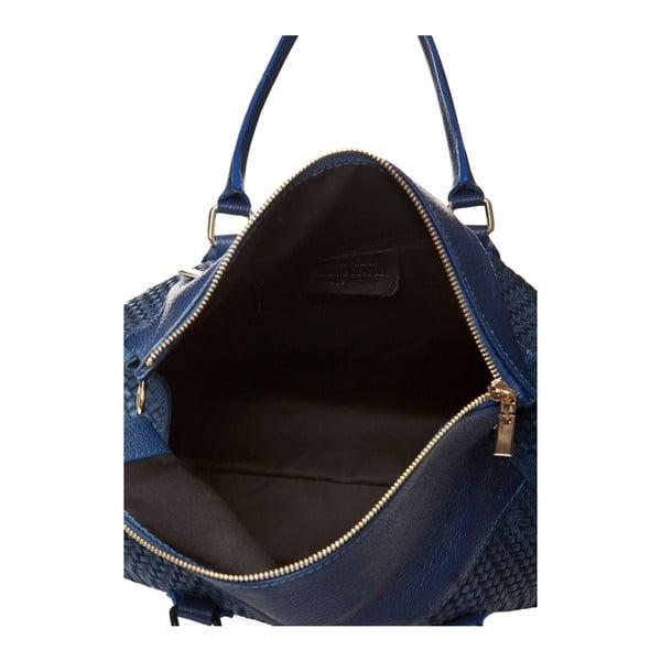 Niebieska   torebka skórzana Edmond Louis Amara