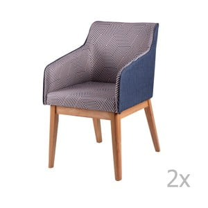 Zestaw 2 krzeseł sømcasa Beth