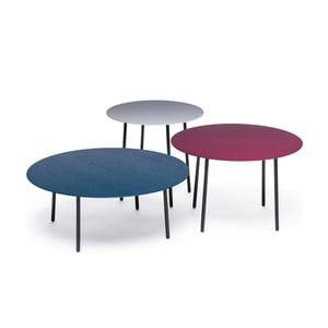 Zestaw 3 stolików Another Brand Lago Purple