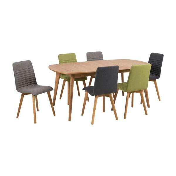 Zestaw 2 antracytowych krzeseł Actona Arosa