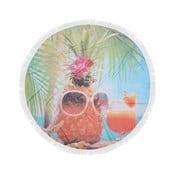 Kolorowy ręcznik plażowy ze 100% bawełny Hawaii, ⌀ 150 cm