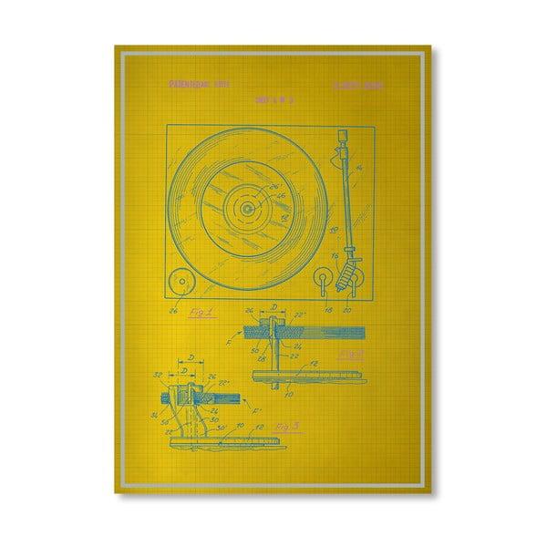 Plakat Record Player, 30x42 cm