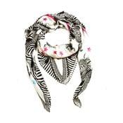 Wełniana chusta z dodatkiem kaszmiru Zebra, 130x130 cm