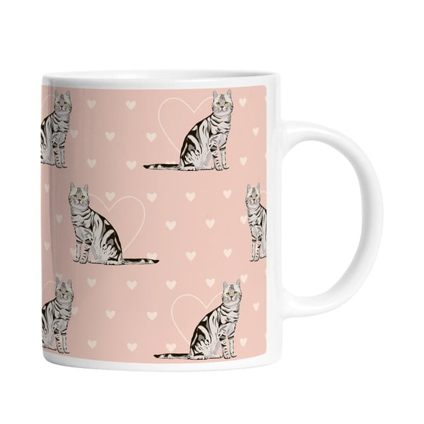 Ceramiczny kubek Darling Cats, 330 ml