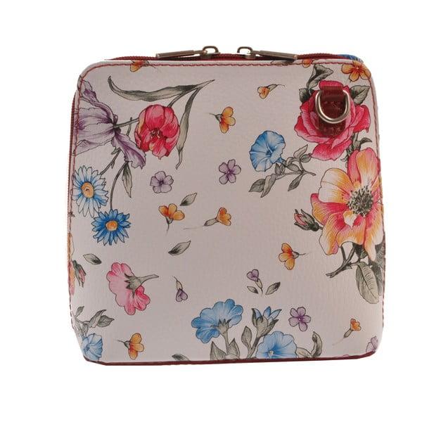 Skórzana torebka Vaire, w kwiaty