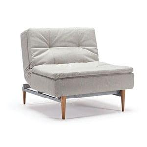 Białoszary fotel regulowany z jasnymi nogami Innovation Dublexo