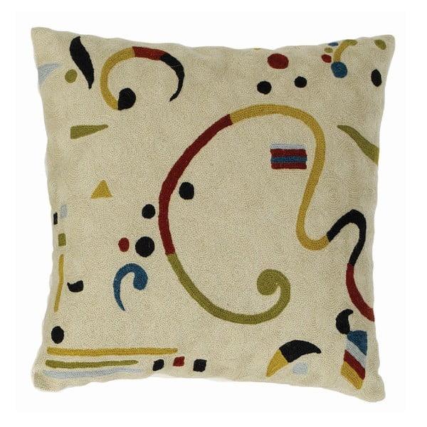 Poszewka na poduszkę Cream Ribbon, 45x45 cm