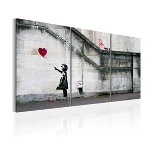 Wieloczęściowy obraz na płótnie Bimago Banksy Hope, 60x120cm